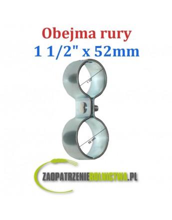 "Obejma rury 1 1/2"" - 52mm Ósemka"