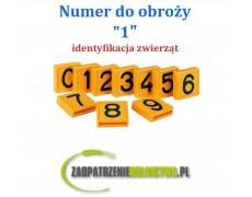 """Numer identyfikacyjny do obroży """" 0 """" 1szt."""