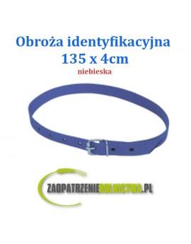 Obroża identyfikacyjna, 135 cm, niebieska