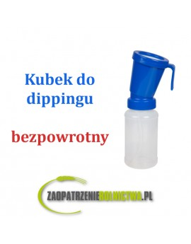 Kubek do dezynfekcji strzyków bezpowrotny, niebieski