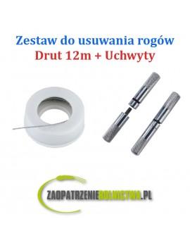 Zestaw do usuwania rogów uchwyty i drut 3,6m