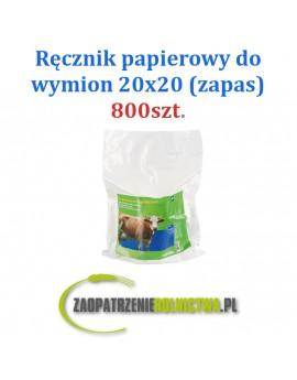 Ręczniki papierowe do wymion w wiadrze, 20 x 20 cm, 800 szt.