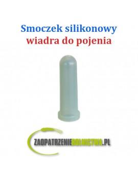Smoczek gumowy krótki z nacięciem, biały