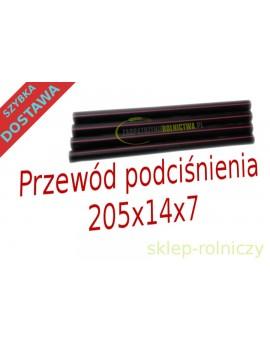 Przewód podciśnienia 230x14x7 komplet 4 sztuki