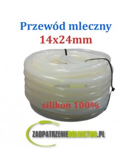 PRZEWÓD MLECZNY siliko 1 metr 14x24mm