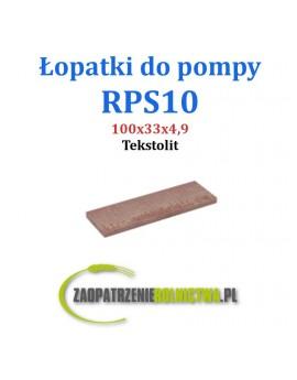 Łopatki do pompy RPS 10 komplet 4 szt.
