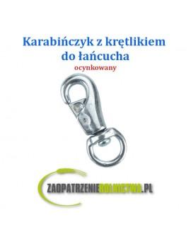 Karabińczyk z krętlikiem okrągłym do łańcucha