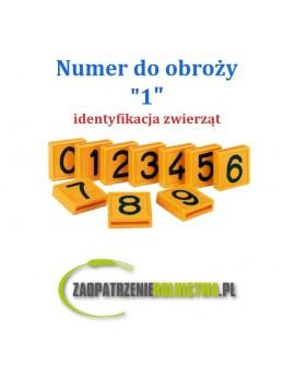 """Numer identyfikacyjny do obroży """" 1 """" 1szt."""