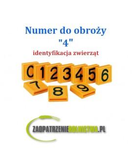 """Numer identyfikacyjny do obroży """" 4 """" 1szt."""