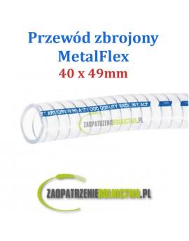 Przewód do transportu mleka Metalflex/Armorvin 30 x 39 mm 1 m
