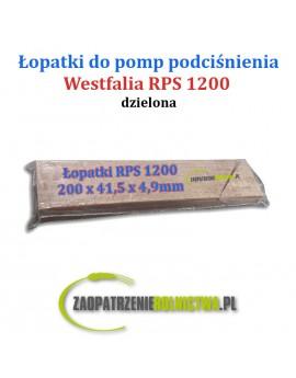Łopatki do pompy RPS 1200 komplet 4 szt. dzielone