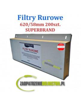 FILTRY RUROWE 455X58mm 200szt. SUPERBRAND