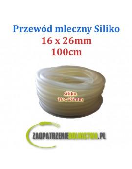 PRZEWÓD MLECZNY siliko 16x26mm 80cm