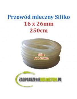 PRZEWÓD MLECZNY siliko 16x26mm 100cm