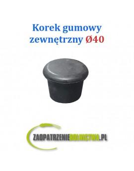 Korek gumowy zewnętrzny 40mm rurociągu