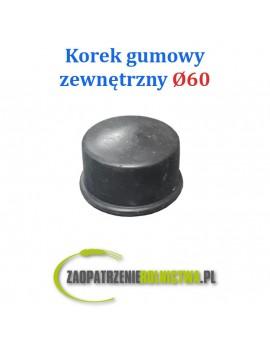 Korek gumowy zewnętrzny 60mm rurociągu