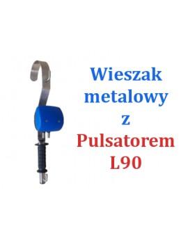 WIESZAK METALOWY Z PULSATOREM PNEUMATYCZNYM L90