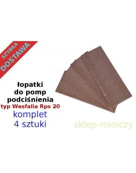 Łopatki do pompy RPS 15 komplet 4 szt.