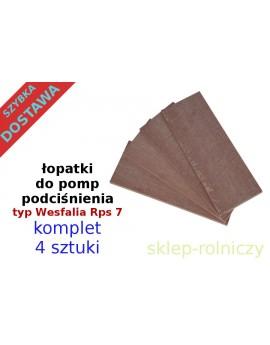 Łopatki do pompy RPS 7 komplet 4 szt.